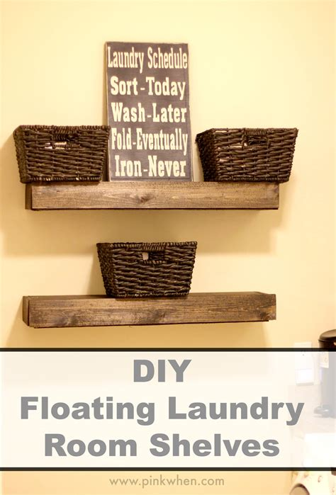floating shelves for bedroom diy floating laundry room shelves page 2 of 2 pinkwhen