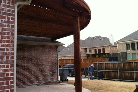 Large Rounded Quarter Round Arbor Over Patio In Allen