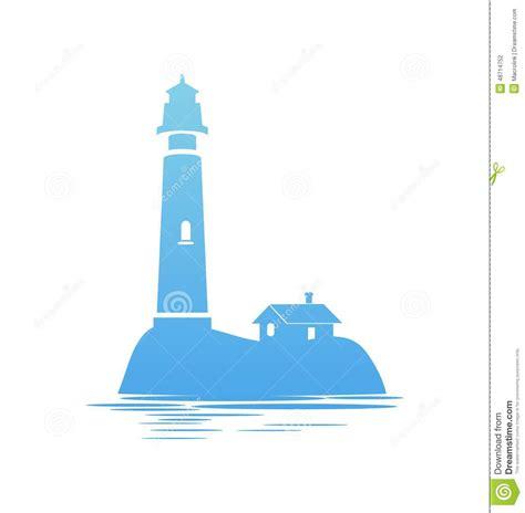 Lighthouse House Plans ic 244 ne bleue de phare illustration de vecteur image 48714752