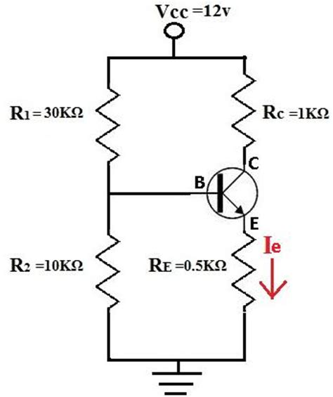 transistor analysis how to calculate the emitter current ie of a transistor