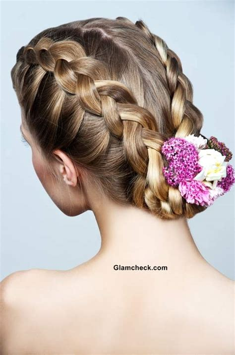 hairstyles braids buns how to make two row braids and bun hairstyle