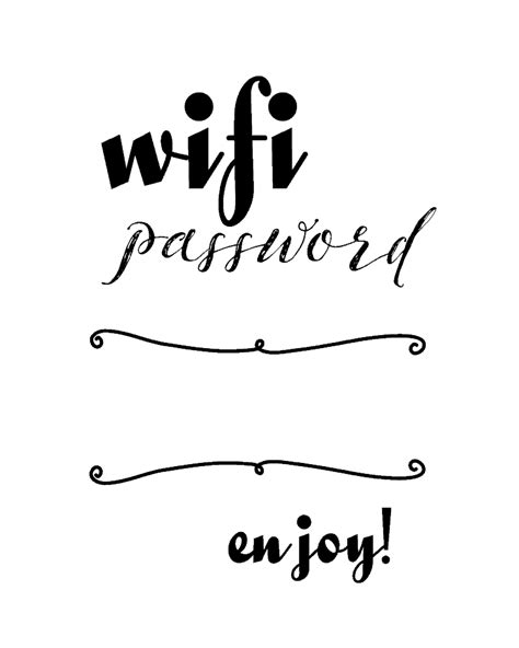 Wifi Password Printable Michelle James Designs Free Wifi Poster Template