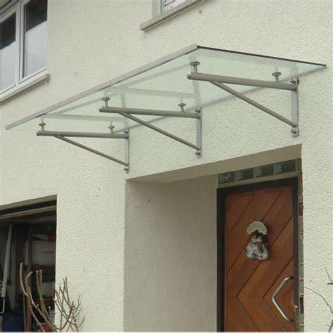 wandle edelstahl haust 252 rvordach aus glas mit runden vordachhaltern aus