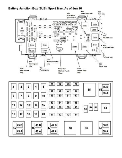 2001 Explorer Fuse Panel Diagram Online Wiring Diagram