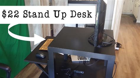 how to build your own stand up desk for 22 from ikea