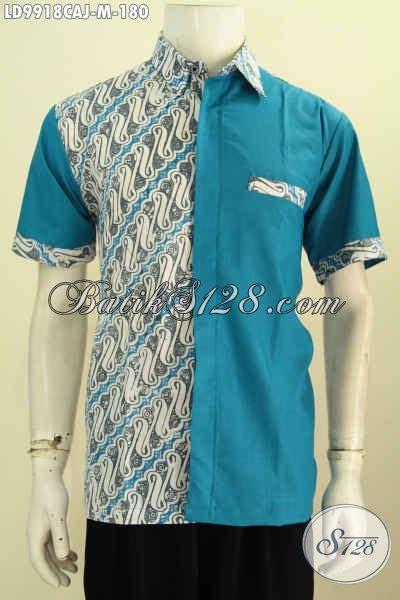 Kemeja Hem Soft Biru Laut 100 gambar baju batik pria warna biru dengan jual baju
