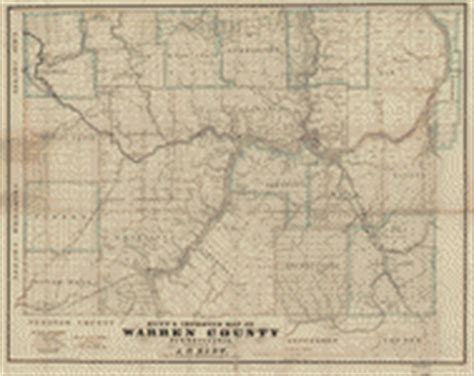 Warren County Pa Property Records Hunt S Improved Map Of Warren County Pennsylvania Library Of Congress