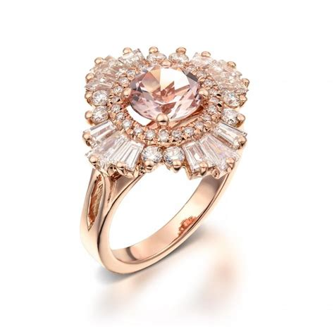 vintage engagement ring 18k gold diamonds and