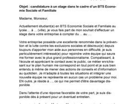 Lettre De Motivation Stage Bts Esf Lettre De Motivation Stage Bts Muc Par Lettreutile