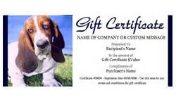pet care gift certificate templates easy to use gift