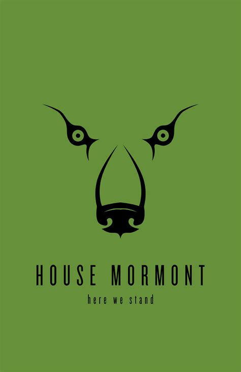 House Mormont by House Mormont Minimalist Poster By Liquidsouldesign On