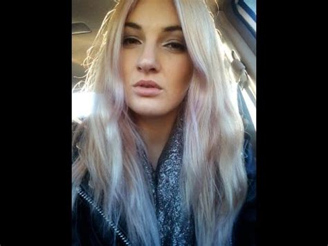 two tonedd hair ddark and bleached diy hair how to tone blonde hair with purple dye youtube