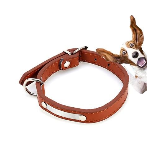 Cat Leather by Aliexpress Buy Pet Collars Collar Buckle