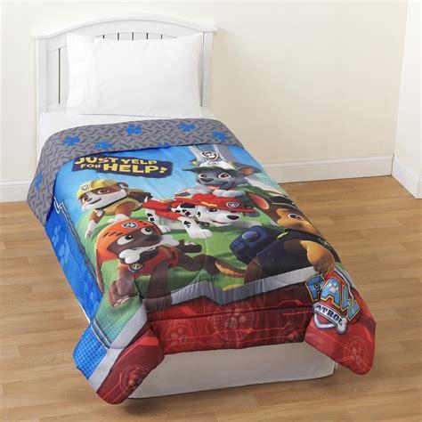 paw patrol bedding nickelodeon paw patrol twin comforter home bed bath