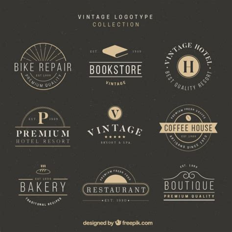 stylish design and stylish logo collection in vintage design