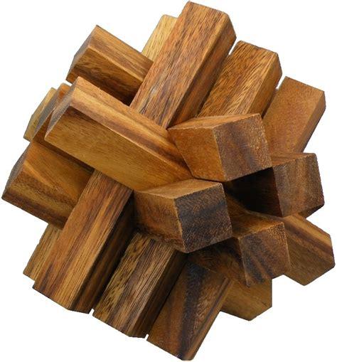 woodwork puzzles bricks wooden brainteaser puzzle ebay