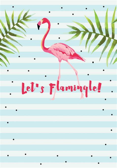Let S Flamingle Free Printable Bridal Shower Invitation Template Greetings Island Emira Flamingo Invitation Template Free