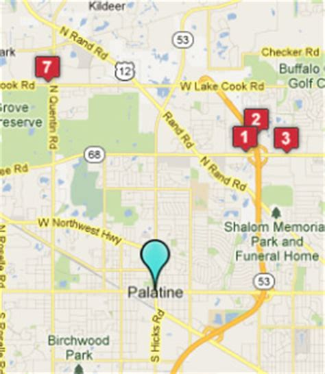 map of palatine illinois palatine il hotels motels see all discounts