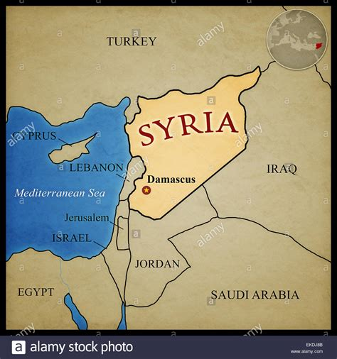 map of syria and surrounding countries syria map and bordering countries with capital damascus