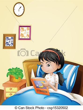 Clip On Reading Ls For Bed by Vector Clipart Of A Reading A Storybook In