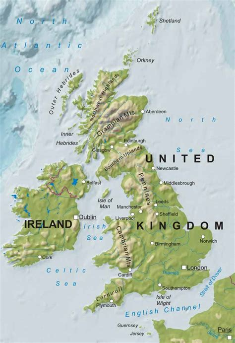 geographical map of united kingdom geography