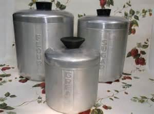 kitchen canisters flour sugar 3 vintage spun aluminum kitchen canisters flour sugar
