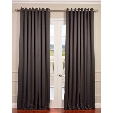 100 curtain panels exclusive fabrics furnishings anthracite grey grommet