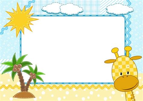 design frame cartoon cartoon frames with baby animals vectors