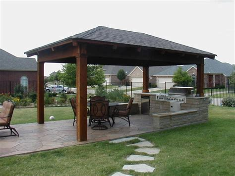 Simple Covered Patio Designs Attached Covered Patio Ideas