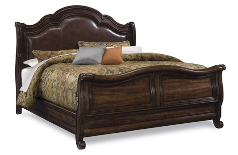 art coronado bedroom set art coronado leather sleigh bed 7212lsleighbed