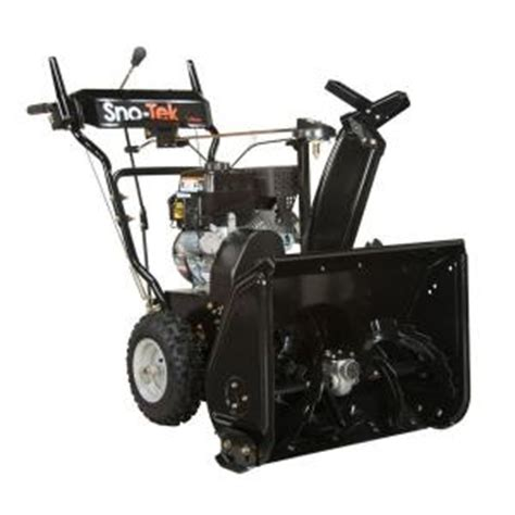 small snow blowers home depot 2014 sno tek 920402 ariens economy 24 in 208 cc 2 stage