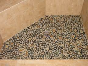 river rock for shower floor pebble shower floors for tiled showers how to install