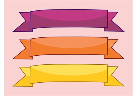 ribbons banners   vector art stock graphics