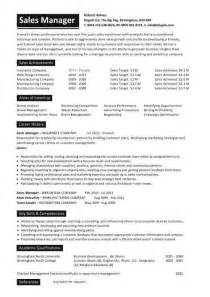 executive resume sles management cv template managers director project
