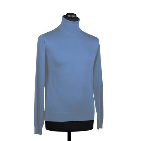 light blue turtleneck mens silk turtleneck sweater for men light blue di franco