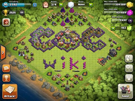 flame wall coc mod game image my new base jpg clash of clans wiki fandom