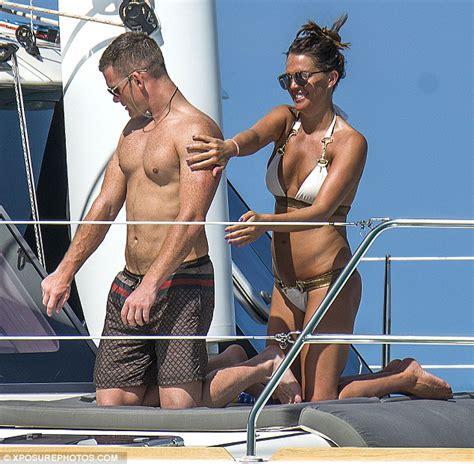 fast boats and bikinis danielle lloyd wows in white bikini with boyfriend michael