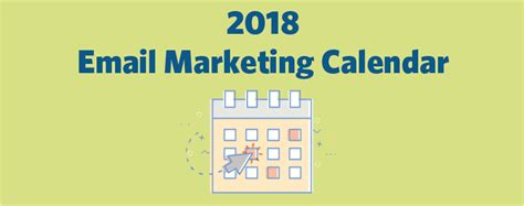 It S Here Your 2018 Email Marketing Calendar Constant Contact Blogs Email Marketing Calendar Template 2018