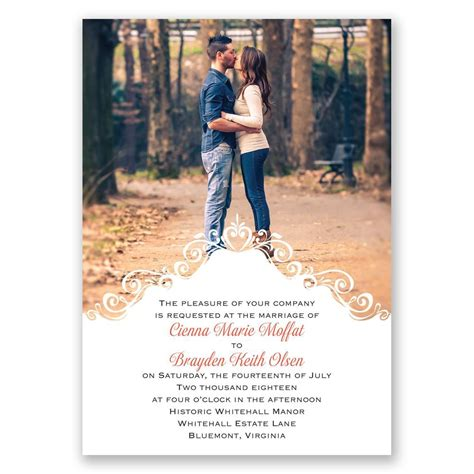Wedding Invitations Using Photos by Filigree Crest Invitation Invitations By