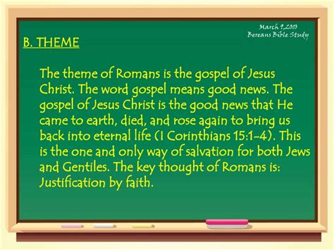themes in the book of romans the book of romans
