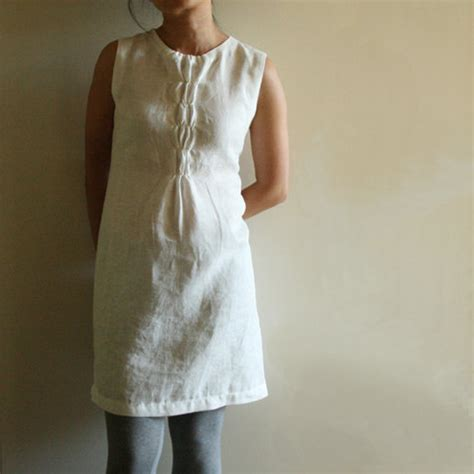 linen dress woffle handmade linen clothing