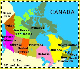 label map of canada canada s geography enchantedlearning