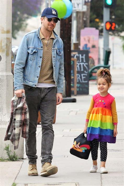 ryan gosling  daughter esmeralda   cutest pair