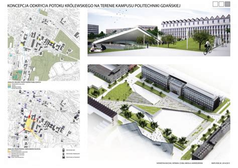Design Technology Competition | new public space on the cus of gdansk university of