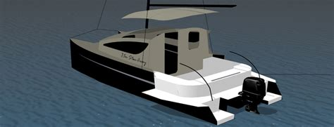 catamaran kit power sail catamaran kits and construction plans stow