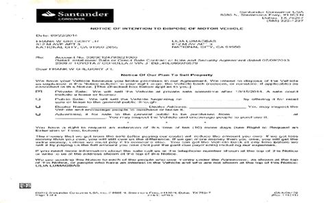 Santander Credit Letter Santander Consumer Usa If You A Santander Loan Pls Join The Class Lawsuit Review