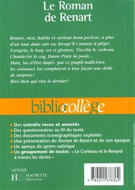 Renart Resume by Livre Le De Renart Collectif