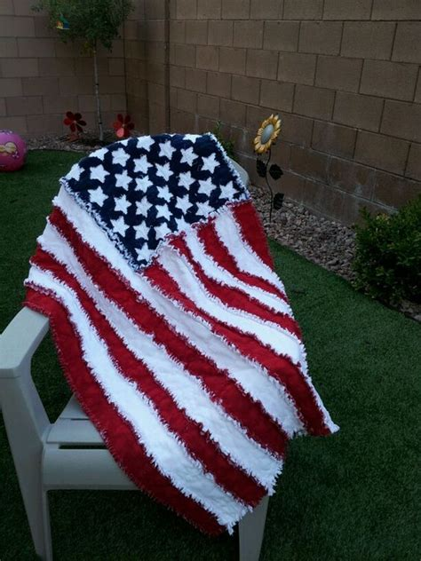 american flag rag quilt to sew someday