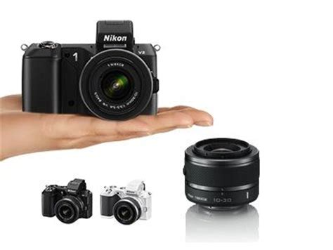 Kamera Nikon V2 nikon 1 v2 systemkamera 3 zoll schwarz kit inkl 10 30