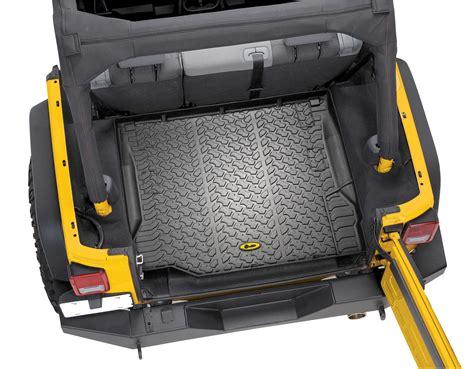 Jeep Floor Liners Bestop 174 Rear Cargo Liner For 07 16 Jeep 174 Wrangler
